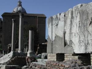"Marble ""Billboard"" in the Roman Forum"