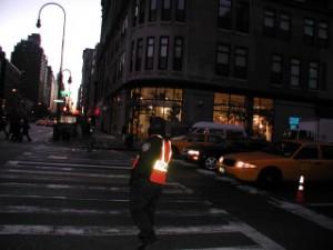 Transit Strike, Day One. Corner of 6th & 14th