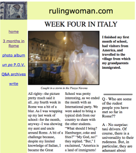 Ruling Woman Circa 2001