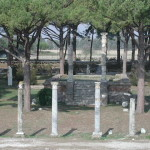 View of Ostia Antica from the amphitheatre