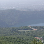 The view from on top the Monte Cavo